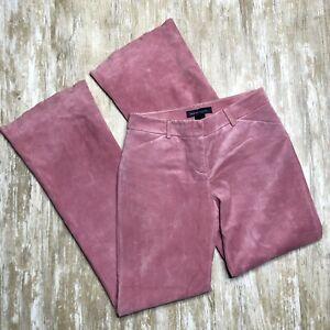 Moda International Pink Leather Flare Pants - Women's Size 2 - Genuine Leather