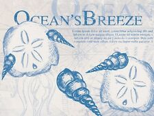 Chopping board cutting board. Tempered glass. Ocean Breeze beach seashell design