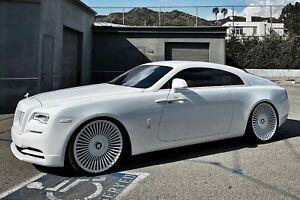 "Rolls Royce Wraith FORGED alloy wheels 24"" Forgiato Trimestre-M"