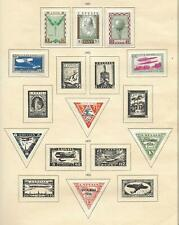 Latvia stamps 1931 Collection of 9 stamps HIGH VALUE!
