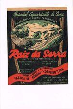 1930s Brazil Raiz Da Serra Cordeiro Aguardente de Cana Brandy Label Tavern Trove