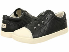 UGG Kids Sneakers Slip-On Zinnia Little / Big Kid Quilted Leather Black 1009941K