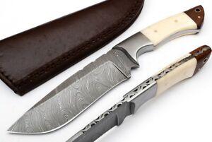 CUSTOM MADE DAMASCUS BLADE HUNTING KNIFE DC-9024