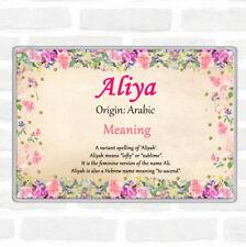 Aliya Name Meaning Jumbo Fridge Magnet Floral