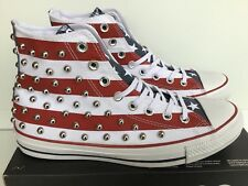 CONVERSE CHUCK TAYLOR AS HI STUDDED WHITE/RED-BLUE MNS.SZ.7.5=WMNS.9.5 (160994C)
