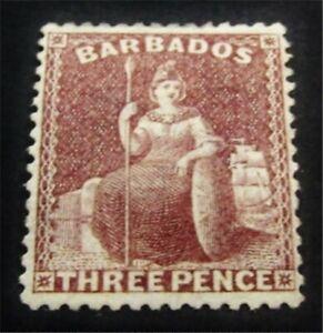 nystamps British Barbados Stamp # 38 Mint OG H $375 J15y2078