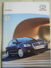 Toyota Avensis range brochure May 2005 Irish market