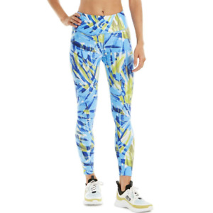 Calvin Klein Performance Womens Blue High Waist Athletic 7/8 Leggings Size M $59