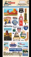 25 Are We There Yet Vacation Road Trip 13 X 6 Scrapbook paper chipboard stickers