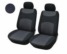 2 Front Bucket Fabric Car Seat Cover Compatible To Toyota 160 Black