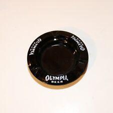 Olympia Beer Ashtray - Black Glass