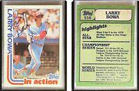 Larry Bowa Signed 1982 Topps #516 Card Philadelphia Phillies Auto Autograph