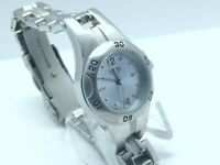 Fossil blue watch women 26mm New Battery Rotating Bezel Date Dial