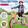 Kids Wicker Bicycle Bike Front Basket Handlebar for Shopping Hiking Holds