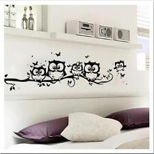 Owl Cartoon Wall Sticker Removable Art PVC Decal Kids Nursery Room Home Decor Y2
