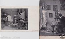# MODELLA E PITTORE: 2 BELLE CARTOLINE 1903 -04