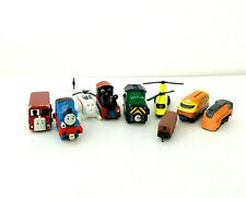 Mixed Lot of 9 Toy Trains Thomas, Harold, Berite, Old Puffer Pete, Helicopter