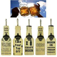 Apribottiglie Da Parete Birra Vino Legno Casa Bar Bevande Apri Bottiglie 730