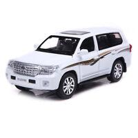 Toyota Land Cruiser V8 SUV 1:32 Scale Model Car Diecast Toy Vehicle White Gift