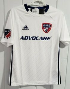 FC Dallas MLS Adidas Mens Large White Official Climalite Team Replica Jersey