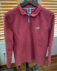 The North Face Womens Size XL 1/4 Zip Fleece JacketPeach Embroidered Sweatshirt