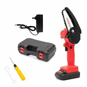 110V Rechargeable Handheld Portable Electric Pruning Saw Cordless Mini Chainsaw