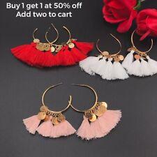 Women Fashion Bohemian Tassel Earrings Long Sequins Dangle Earrings Jewelry Gift