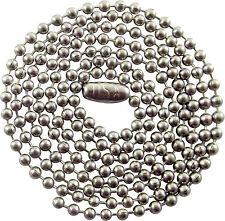 30 INCH - 2.4mm - STAINLESS STEEL BALL CHAIN NECKLACE