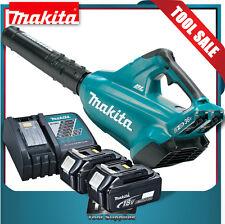 Makita Brushless Blower 18v LXT Cordless Charger & 2x 4.0ah Batteries Xbu02
