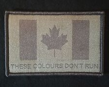 THESE COLOURS DON'T RUN CANADA FLAG MILITARY ARMY ACU VELCRO® BRAND FASTEN PATCH