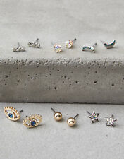 NWT American Eagle Outfitters AEO STUD EARRINGS 6-PACK GIFT SET $19.95