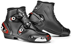 SIDI Speed Ride Motorcycle Motorbike Sports & Racing Leather Boots Black