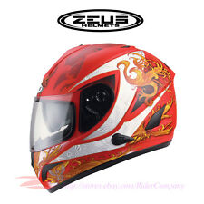 ZEUS ZS-806 Motorcycle Full Face Helmet Aero DOT Safety Approved