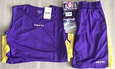 Macron Arkansas Basketball Kit - Violet/Yellow Top/Shorts EU L, UK M, Asia 180cm
