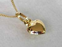 ECHT GOLD *** Herz Anhänger + Kette GOLD DOUBLE, Herzkette 45 cm
