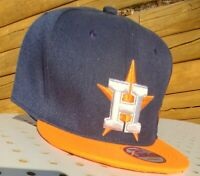 Houston Astros Blue Orange Embroidered Hat Snapback Adjustable Cap