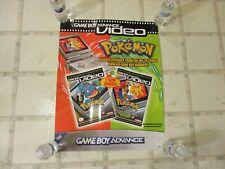 Game Boy Advance Video Pokemon Blastoise Choose You Promo Store Display Poster