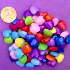 200 x Facet Heart Beads, Jewellery Making, Cards, Scrapbooking,Favours, ,keyring