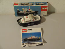 (B9) Lego 314 Wasserpolizei Boot with Orginalverpackung & Building Used