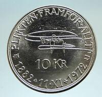 1972 SWEDEN King GUSTAV VI ADOLF Silver SWEDISH 10 Kronor Coin i76731