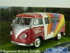 VOLKSWAGEN VW T1 CAMPER VAN WOODSTOCK MUSIC FESTIVAL 1969 1:43 SCALE IXO K8