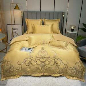 bedding set 4pcs Classic embroidery quilt cover flat sheet bed sheet pillowcases