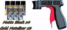 Performix Plasti Dip Premium Wheel Kit 4 Matte Black3 Gold Metalizer Cans V-Grip