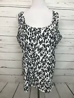 Faded Glory Women's Sz XL 16-18 Tank Top Animal Print Sleeveless Blouse