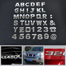 40pcs 3D Car DIY Metallic Alphabet letter Number Emblem Badge Decals stickers