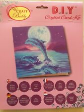Brand New - Craft Buddy Crystal Card Kit. Dolphins.