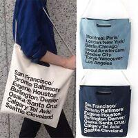 Vintage Large Capacity Canvas Bags American Apparel Woven Cotton Shoulder Bag