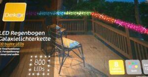 LED Regenbogen Galaxie Lichterkette,800 bunte LEDs,Innen+Aussen,8 Funk.Timer,NEU