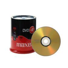 100 Maxell DVD -R Vergini Vuoti 4.7 GB 120 Minuti 16X dvdr 275611.40.TW