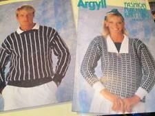 Argyll Fashion Machine Knitting Book #5-12 Men/Women Designs All Shown -Brother